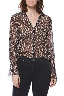 Paige Psychedelic Leopard Abriana Shirt