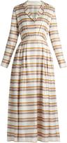 Emilia Wickstead Salome striped pleated silk dress