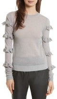 Rebecca Taylor Women's Ruffle Sleeve Sweater