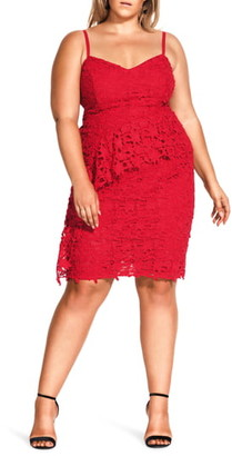 City Chic Illustrious Cotton Lace Sheath Dress