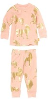 Infant Girl's Masalababy Unicorn Organic Cotton Fitted Two-Piece Pajamas