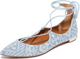 Aquazzura Christy Embroidery Flats