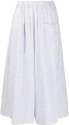 Zucca Stripe Print Cropped Palazzo Trousers