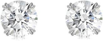Pragnell 18kt white gold diamond Windsor stud earrings