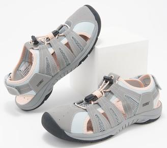 Khombu Leather Sport Sandals - Cacey