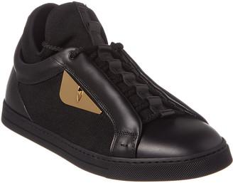 Fendi Monster Eye Leather Sneaker