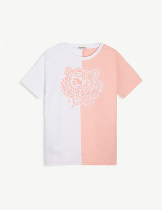 Kenzo Spliced logo-print cotton T-shirt 4-14 years