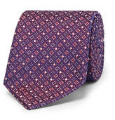 Turnbull & Asser 8cm Silk-jacquard Tie - Purple