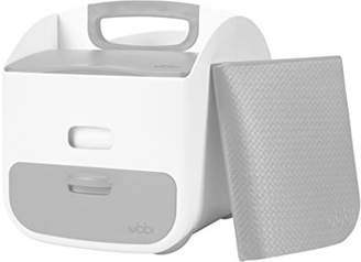 Ubbi Nappy Storage Caddy, Wipes Dispenser and Changing Mat Combo Set, Nursery Organiser, Diaper Storage for Changing Table
