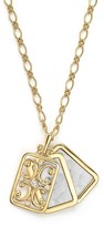 Monica Rich Kosann 18K Yellow Gold Floral Two Photo Locket Pendant Necklace with Diamonds, 30""