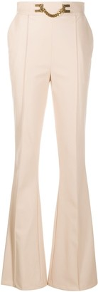 Elisabetta Franchi High-Waisted Flared Trousers