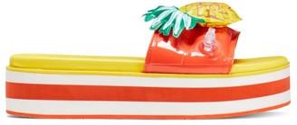 Kate Spade Limoncello Pineapple Flatform Slides