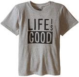Life is Good Kids Block CrusherTM Tee (Little Kids/Big Kids)