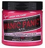 Manic Panic Semi-Permament Haircolor Pretty Flamingo 4oz (6 Pack)