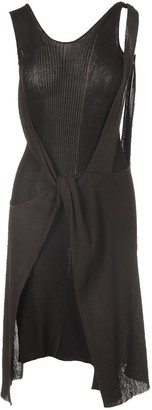Bottega Veneta Cut-Out Layered Knit Dress