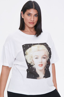 Forever 21 Plus Size Faux Pearl Marilyn Monroe Tee