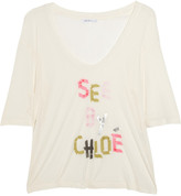 See by Chloe Printed jersey T-shirt