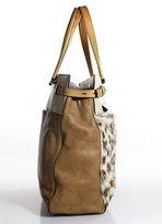 Reed Krakoff Brown Tan Leather Open Top Shoulder Handbag