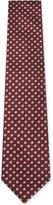 Ermenegildo Zegna Geometric Floral Pattern Silk Tie