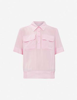 Benetton Shirred-waist woven shirt