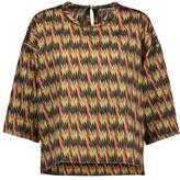 Etoile Isabel Marant Grani Haut Asymmetric Printed Cotton Top
