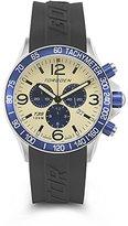 Torgoen Pilot T35 Series T35303 45.5mm Stainless Steel Case Black Polyurethane Mineral Men's Watch