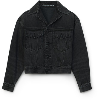Denim Lapel Collared Jacket