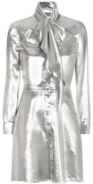 Saint Laurent Metallic Silk-blend Dress