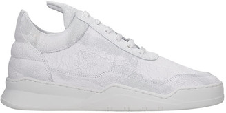 Filling Pieces Low Top Ghost Sneakers In White Leather