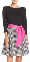 Eliza J Women's Mixed Media Fit & Flare Dress