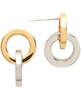 Rebecca Minkoff Two Tone Link Earrings