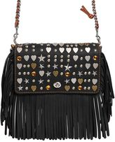 Coach Dinky Fringed Leather Chain Shoulder Bag