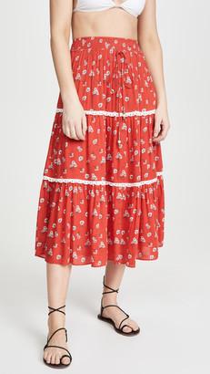 Playa Lucila Floral Skirt