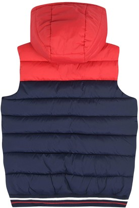 Lyle & Scott Boys Colour Block Tipped Gilet - Navy/red