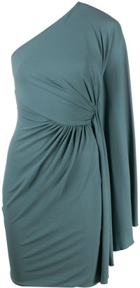 Alexandre Vauthier Draped One-Shoulder Mini Dress