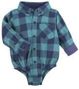 Andy & Evan Check Flannel Bodysuit (Baby Boys)