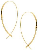 Lana Large 14K Flat Curved Hoop Earrings