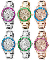 Invicta Women's Angel Stainless Steel with Colored Bezel Watch
