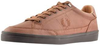 Fred Perry Deuce Leather Trainers Brown