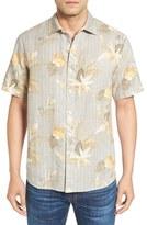 Tommy Bahama 'Gardenia Blooms Breezer' Print Linen & Cotton Camp Shirt