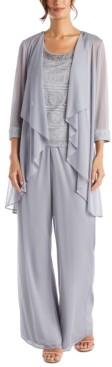 R & M Richards Petite 3-Pc. Jacket, Lace Top & Pants Set