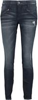 Current/Elliott The Silverlake Zip low-rise skinny jeans
