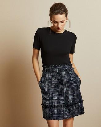 Ted Baker Boucle Short Sleeved Dress