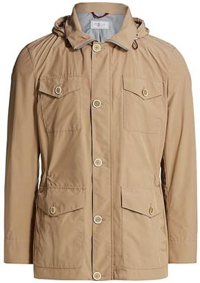 Brunello Cucinelli Hooded Microfiber Safari Jacket