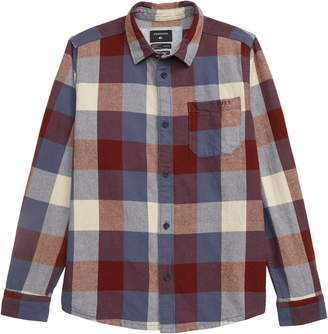 Quiksilver Motherfly Plaid Flannel Shirt