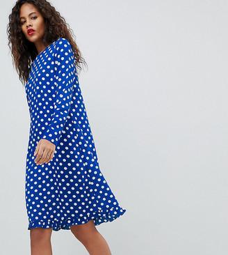 Dotti Y.A.S Tall Polka Dot Dress-Navy