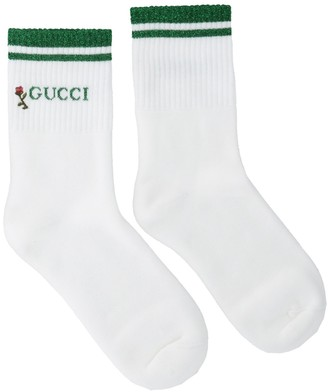 Gucci Floral Logo Embroidered Socks