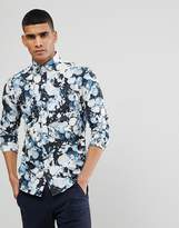 Selected Slim Fit Smart Shirt With All Over Print