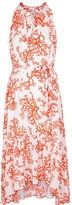 Heidi Klein Belize coral-print silk midi dress