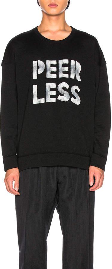 Visvim Jumbo Crewneck Sweater Peerless in Black | FWRD